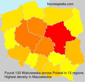 Familiennamen Walczewska - Poland