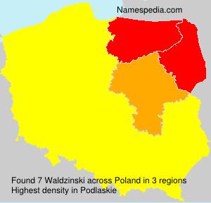 Surname Waldzinski in Poland