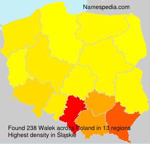 Surname Walek in Poland