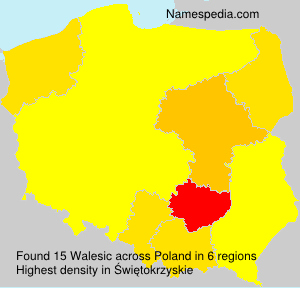 Surname Walesic in Poland