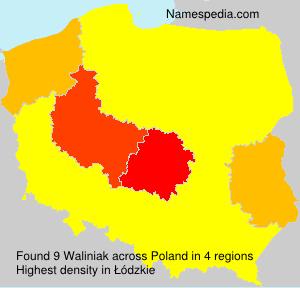 Familiennamen Waliniak - Poland