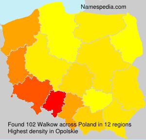 Familiennamen Walkow - Poland
