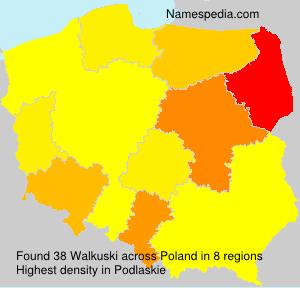Surname Walkuski in Poland
