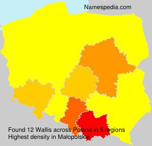 Surname Wallis in Poland
