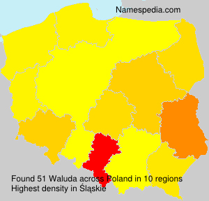 Surname Waluda in Poland