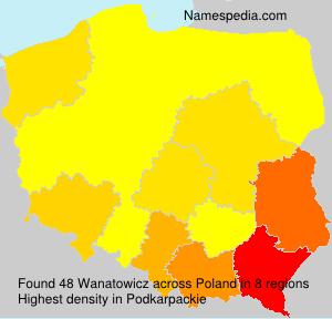 Familiennamen Wanatowicz - Poland