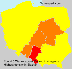 Surname Wanek in Poland