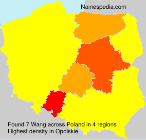 Surname Wang in Poland