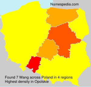 Familiennamen Wang - Poland