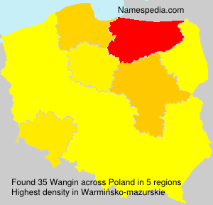 Surname Wangin in Poland