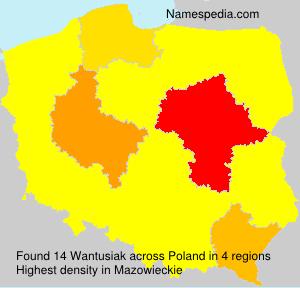 Surname Wantusiak in Poland