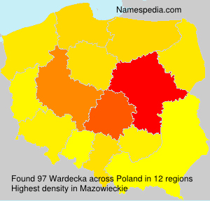 Surname Wardecka in Poland