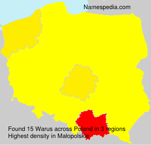 Surname Warus in Poland