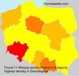 Surname Waryas in Poland