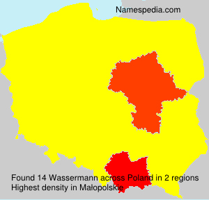 Surname Wassermann in Poland