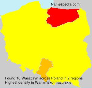 Surname Waszczyn in Poland