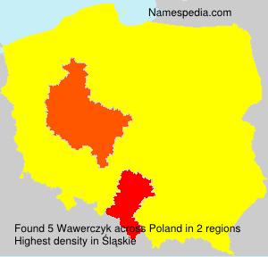 Familiennamen Wawerczyk - Poland