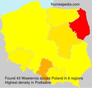 Surname Wawiernia in Poland