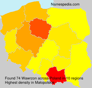 Surname Wawrzon in Poland