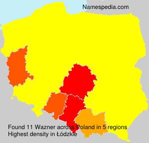 Surname Wazner in Poland