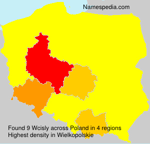 Surname Wcisly in Poland