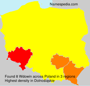Surname Wdowin in Poland