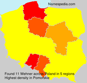 Surname Wehner in Poland