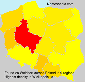 Surname Weichert in Poland
