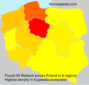 Surname Weiland in Poland