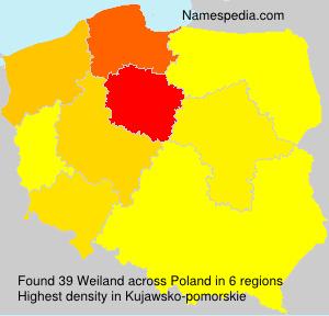Surname Weiland in Poland