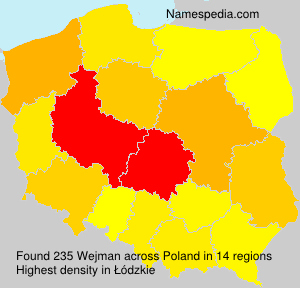 Surname Wejman in Poland