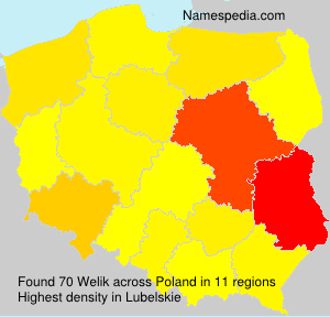 Surname Welik in Poland