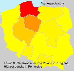 Surname Weltrowska in Poland