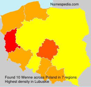 Familiennamen Wenne - Poland