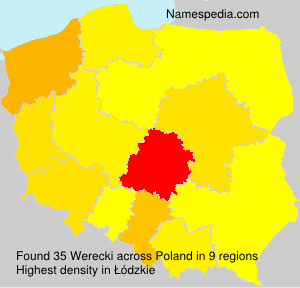 Surname Werecki in Poland