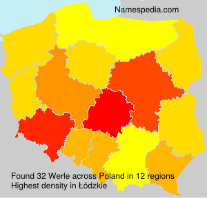 Surname Werle in Poland