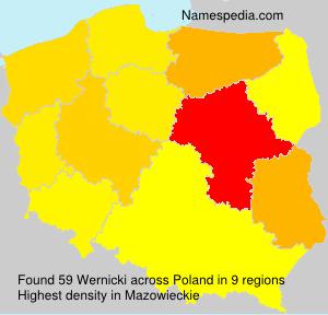 Familiennamen Wernicki - Poland