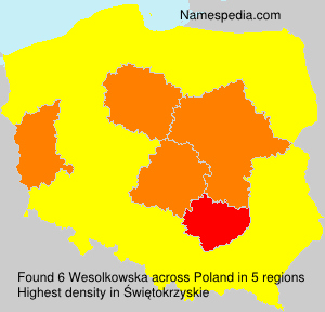 Surname Wesolkowska in Poland