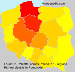 Surname Westfal in Poland