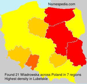 Surname Wiadrowska in Poland