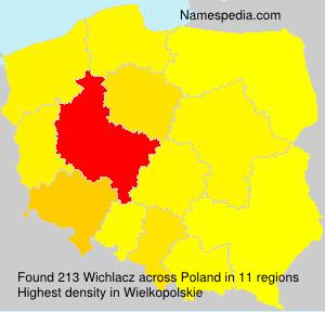 Surname Wichlacz in Poland