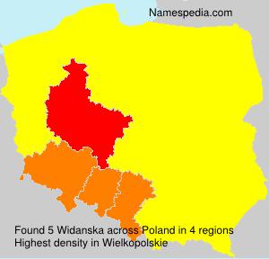 Surname Widanska in Poland