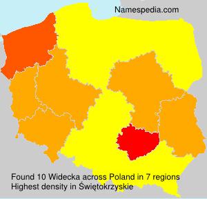 Familiennamen Widecka - Poland