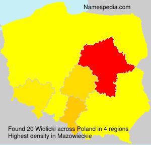 Surname Widlicki in Poland