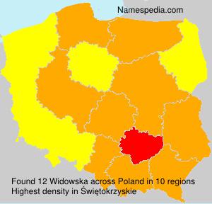 Surname Widowska in Poland