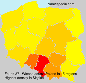 Surname Wiecha in Poland