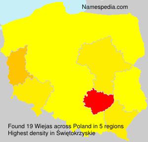 Familiennamen Wiejas - Poland