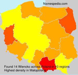 Surname Wiencko in Poland