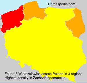 Surname Wierszalowicz in Poland
