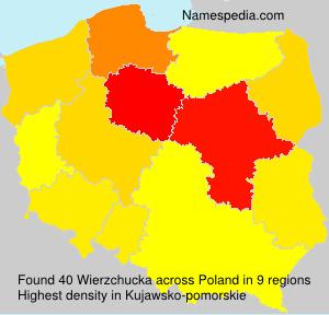 Surname Wierzchucka in Poland